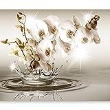 murando - Fototapete Blumen Orchidee 350x256 cm - Vlies Tapete - Moderne Wanddeko - Design Tapete - Wandtapete - Wand Dekoration - Blume Blitz Abstrakt Wasser b-C-0081-a-c