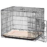 Pawhut Cage Caisse de Transport Pliante pour Chien poignée, Plateau Amovible, Coussin fourni 91 x...