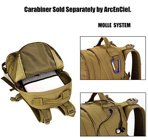 DCCN 25L Taktischer Rucksack Militär Wanderrucksack Molle Daypack für Outdoor Wandern Camping Reisen Braun
