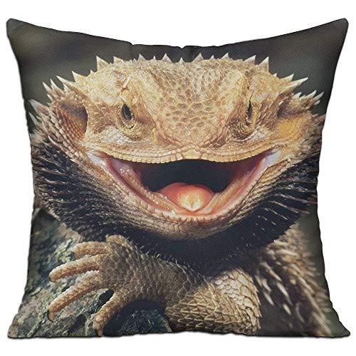 SARA NELL nell velluto cuscino casi, Bearded Dragon Lizards, copri cuscini federa copricuscino con cerniera 45,7x 45,7cm One Size Infradito colorati estivi, con finte perline