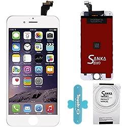 """SANKA Ecran LCD pour iPhone 6, 4.7"""", Retina Tactile Écran Vitre Display Digitizer Kit de Réparation Complet - Blanc (Free Outils Inclus)"""