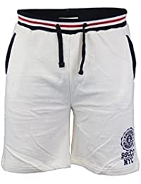 Mens Knee Length Fleece Lined Sweat Shorts By Soul Star