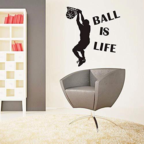 Fußball Wandaufkleber Basketball Gebrochene Wandkunst Aufkleber Auto Wand Poster Kinderzimmer Dekoration Jungen Gefälligkeiten 21X24In ()