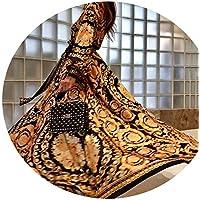 skirt Vestido Europeo Y Americano, Falda Larga Sexy con Escote Pronunciado con Escote en V,Color de la ima,S