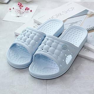 CWJDTXD Summer Slippers Sandals and Slippers Female Summer Home Couple Bathroom Slippers Men's Bath Slip Slip Light Slip, 37/38 [Recommended 37-38 Yards], Jinglan