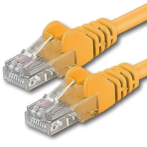 1aTTack CAT 6 UTP Netzwerk Patch-Kabel mit 2x RJ45 Stecker 5m gelb