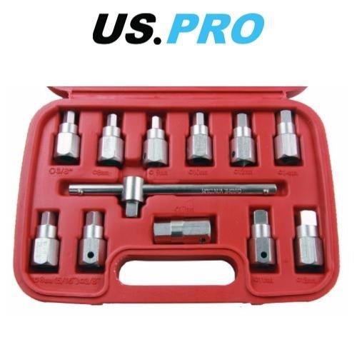 US Pro 12 pièces principales de vidange de douilles Axe d'huile de vidange d'huile Clé 3/20,3 cm Drive 3096