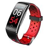 Huang Dog-shop Reloj Inteligente Bluetooth 4.0, Smartband Pulsera Actividad Inteligente Deporte Fitness con Monitor de Ritmo Cardíaco para Android iOS para Hombre Mujer Niño Niña
