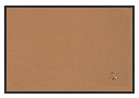 Bi-Office Basic Cork Notice Board with Black Frame 385x285 mm
