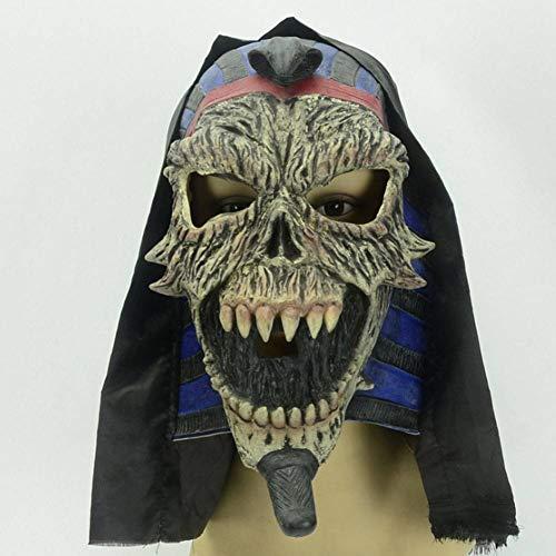 Für Erwachsenen Schwarzen Pharao Kostüm - AIYA Halloween Ghost Festival Nachtclub Rendezvous