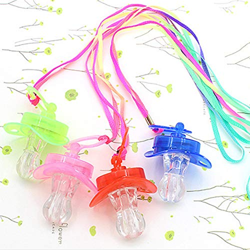 dgyl88 Glow Stick buntes Licht Schnuller Nippel Party Bar Rave Fun Toy Survival Kit (Farbe zufällig)