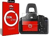 nandu I ZenGlass [2 Stück] Flexible Glas-Folie für Canon EOS 600D Panzerfolie I Display-Schutzfolie 9H