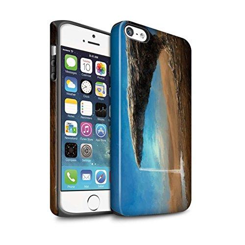 Offiziell Chris Cold Hülle / Matte Harten Stoßfest Case für Apple iPhone SE / Entfernten Stern Muster / Galaktische Welt Kollektion Exoplanet