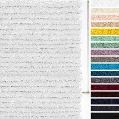 Lumaland Premium 24er Set Seiftücher Handtücher Frottee 30 x 30 cm aus 100{a6b7cfe7813e70a1314f0bf9ffb6418ac3f62f4f7e41a9ed65e20d881874d4d9} Baumwolle 420 g/m² mit Aufhänger weiß