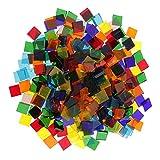 Homyl 250pcs Mosaix Glasstücke Mosaiksteine Bastelmix Dekoration Steine Mosaik Fliesen für Mosaikherstellung - Platz, 10*10mm