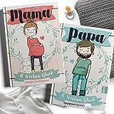 Geschenkset für werdende Eltern - Das perfekte Tagebuch und Erinnerungsalbum an die Schwangerschaft und die Geburt des Babys für Mama und Papa als Geschenkset - (Geschenkbücher von Rundfux)