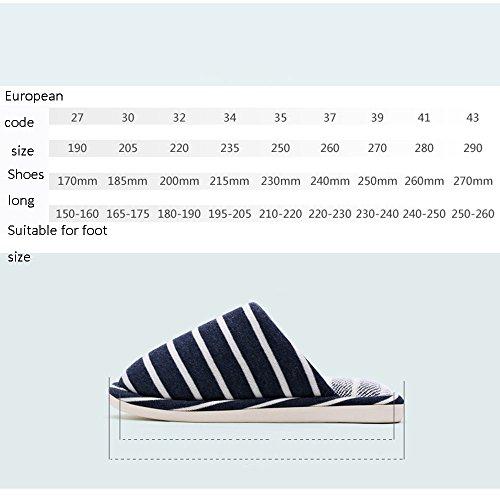 Pantoufles pour enfants automne et hiver Pantoufles pour hommes et femmes Pantoufles pour enfants en coton intérieur 4 couleurs disponibles Taille en option ( Couleur : A , taille : 270(37-38) ) C