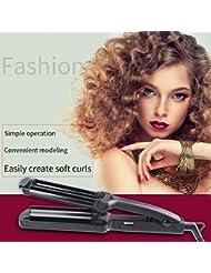 inkint 3 Tubes Wave Fer à Onduler/Boucler Mini Curleur de Cheveux DIY Outils de Coiffure Salon Tension(110-240V)+Le Cordon D'alimentation Pivotant 360 °