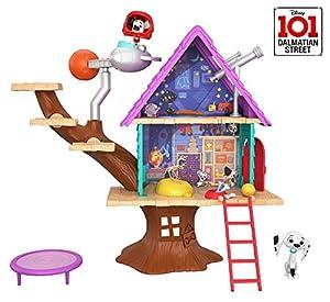 Disney 101 Dalmatian Street Casita del árbol de Dylan con accesorios, juguete niños +5 años (Mattel GDL88)