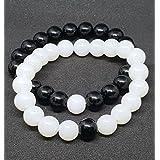 Friendship Day Affaires 2Pcs Beads Charm Couple Beads Bracelets For Daily/Party Wear Fancy Stylish Couple Bracelet For Men/Women/Boys/Girls ( B-11 )