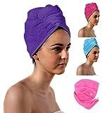HandtücherRus Spa Tage Luxus Haar Turban, lila, Absorbent Handtuch Leichte Baumwolle von Aztex