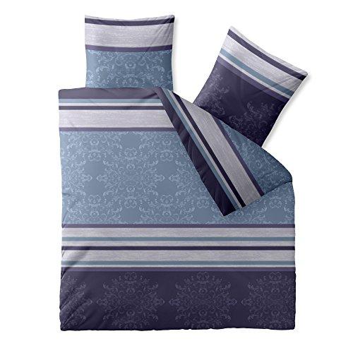 Klassische Webart-gewebe (Bettwäsche Baumwolle 200x200 CelinaTex 0002666 Fashion Nicole blau lila)