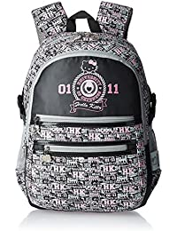 Hello Kitty Nylon 48 cms Grey and Black Children's Backpack (Age group :8 yrs +)