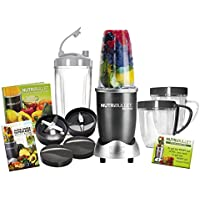 NutriBullet Deluxe 600 Series Graphite 15 Piece Set Nutrition Extractor Juicer, Blender with Free NutriBlast Seed and Fruit Booster Mix (As Seen on High Street TV)
