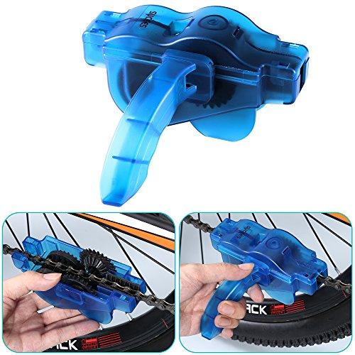 Fahrrad Kettenreinigungsgerät + Fahrrad Kettennieter Set, SYCEES Kettenreiniger mit Bürste und Fahrrad Ketten Entferner für die Kettenreinigung und Kettenentferung von den meisten Fahrrädern (blau + schwarz ) - 3