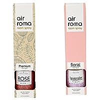 AirRoma Combo of Rose Milk Fragrance Air Freshener Spray 200 ml & Lavender Fresh Fragrance Air Freshener Spray 200 ml