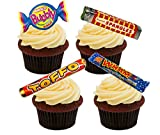 Retro Sweets 70s and 80s Mix - Edible Cupcake Toppers - Stand-up Wafer Cake Decorations (Pack of 24)