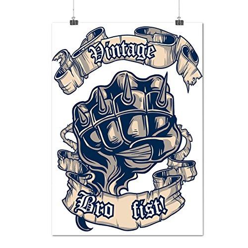 Bro Zuerst Spitze Jahrgang Gangster Mattes/Glänzende Plakat A4 (30cm x 21cm) | (Gangster Stil Mädchen)