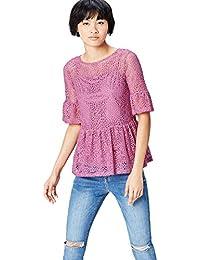 FIND Top de Crochet con Volante Para Mujer