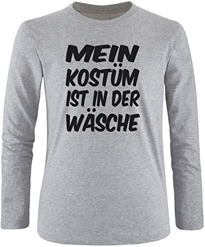 Luckja Mein Kostüm ist in der Wäsche Herren Longsleeve Grau/Schwarz