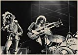 Led Zeppelin Rockmusik Poster Hauptdekoration Vintage Style-Wand-Aufkleber Abooly Marke kaufen 3 4,1,30x21cm 11x8 Zoll