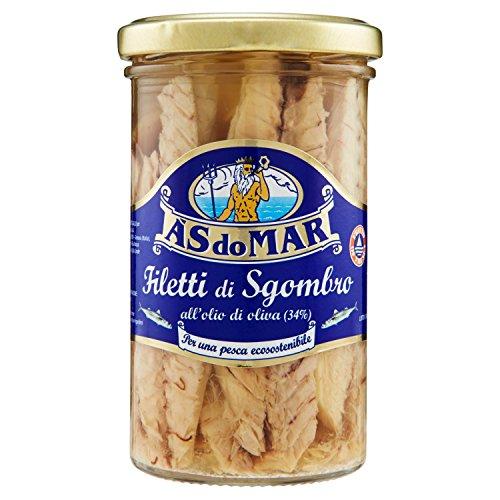 Asdomar Filetti di Sgombro all'Olio d'Oliva - 3 Confezioni