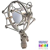 SRK G-21 Universal Microphone Shock Mount Microphone Stand Metal Finish Holder Clip for Studio Condenser Microphone