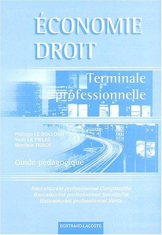 Economie et Droit Terminale professionnelle