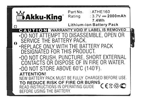 Akku-King Akku für HTC Advantage, X7500, T-Mobile Ameo, O2 XDA Flint, Dopod U1000 - ersetzt BA S170 ATHE160 Li-Ion 2000mAh