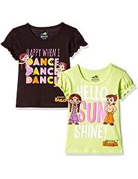 Chhota Bheem Girls' T-Shirt (Pack of 2)