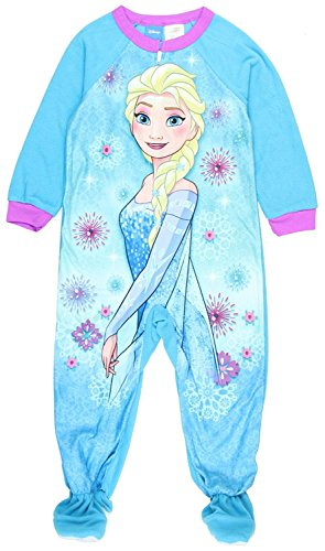 Disney Frozen ELSA Girls Toddler One Pc Footed Blanket Sleeper Pajama (3t) - Footed Sleeper Pajamas