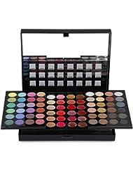 PhantomSky 78 Colores Sombra De Ojos Paleta de Maquillaje Cosmética con Corrector y Rubor y Brillo de labios - Perfecto para Uso Profesional y Diario