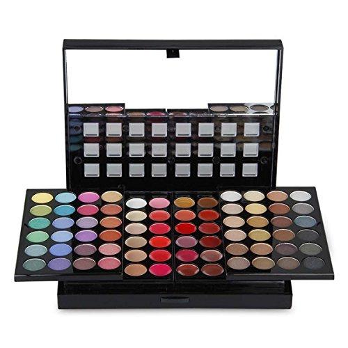 PhantomSky 78 Couleurs Fard à Paupières Palette de Maquillage Cosmétique Set avec Correcteur et Fard à Joues et Rouge à Lèvres - Parfait pour une utilisation professionnelle et quotidienne