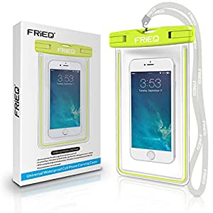 FRiEQ Universal Waterproof Case Bag for Outdoor Activities - Perfect for Boating / Kayaking / Rafting / Swimming - Waterproof bag / Waterproof Life Pouch / Dry Bag for Apple iPhone 6, 5S, 5C, 5; Galaxy S6, S4, S3; HTC One X,