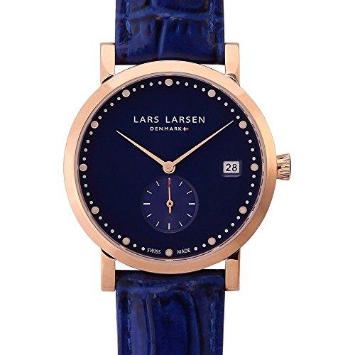 Lars Larsen 137GDBL Ladies Emma Gold Deep Ocean Blue Watch