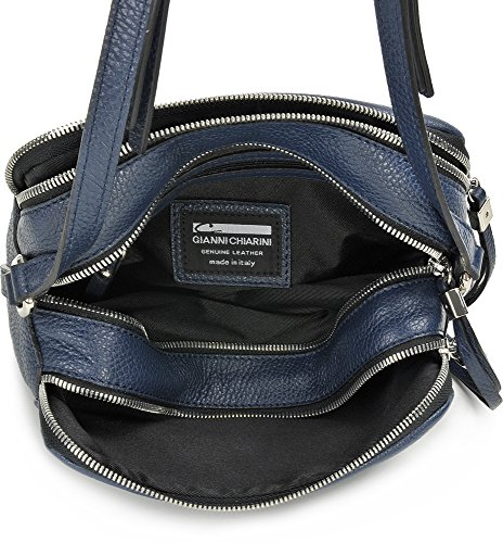 GIANNI CHIARINI, Damen Leder Umhängetaschen, Crossbody Bag, Schultertaschen, Leder, 26 x 19 x 11 cm (B x H x T), Farbe:Dunkelblau Dunkelblau