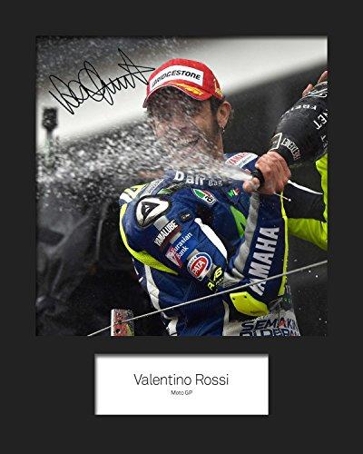 FRAME SMART Valentino Rossi #2 | Signierter Fotodruck | 10x8 Größe passt 10x8 Zoll Rahmen | Maschinenschnitt | Fotoanzeige | Geschenk Sammlerstück