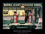 1art1 54570 Chris Consani - Destiny Highway, Norma Jean's Roadside Diner Poster Kunstdruck 80 x 60 cm