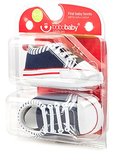 Bobobaby Baby Mädchen und Jungen Bobobaby Babyschuhe Hausschuhe ZB-71 Blau