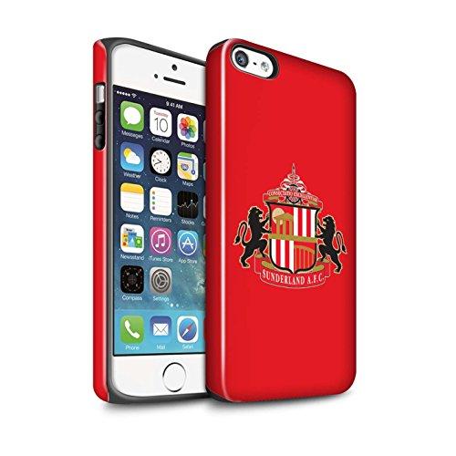 Offiziell Sunderland AFC Hülle / Glanz Harten Stoßfest Case für Apple iPhone SE / Pack 6pcs Muster / SAFC Fußball Crest Kollektion Rot